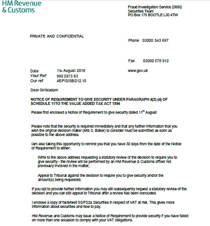 What is an HMRC Distraint Notice (Notice of Enforcement)