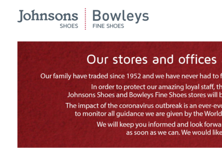 Johnsons Shoe Company enters administration